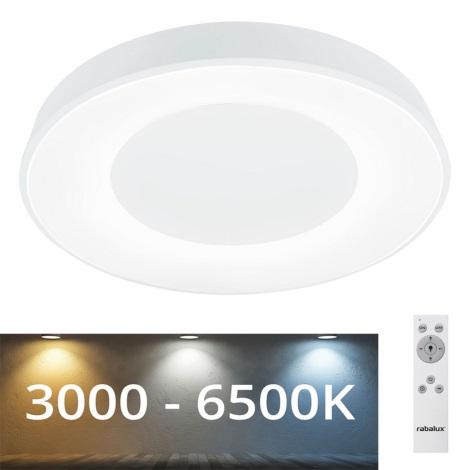 Rabalux - Φωτιστικό οροφής LED Dimmable LED/38W/230V  λευκό +  RC 3000-6500K