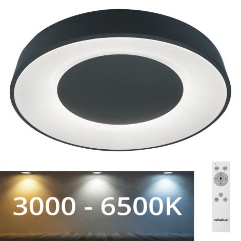 Rabalux - LED Dimmable φωτιστικό οροφής LED/38W/230V μαύρο 3000-6500K +  RC