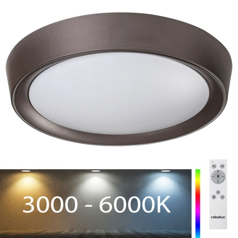 Rabalux - LED RGB Dimmable φωτιστικό οροφής LED/24W/230V +  RC 3000-6000K